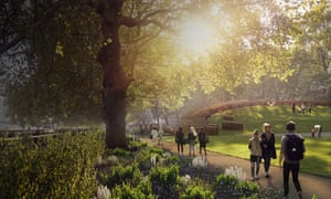Artist's impression of the revised design for the UK Holocaust Memorial and Learning Centre