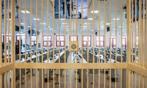 The inside of a new bunker room built for the upcoming 'Rinascita-Scott' maxi-trial in which more than 350 alleged members of Calabria's 'Ndrangheta mafia group and their associates go on trial this week.