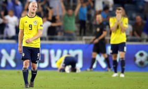 Oh Brexit!: Scotland's Steven Naismith after Israel scored the winning goal in a Uefa Nations League match in October 2018.