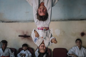 Sports story 3rd PrizeChildren practice during a karate lesson in Aleppo, Syria