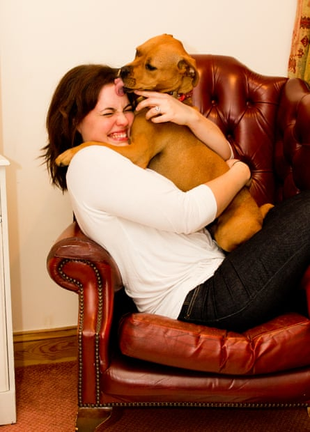 Deborah Tillett with her dog, Lacey