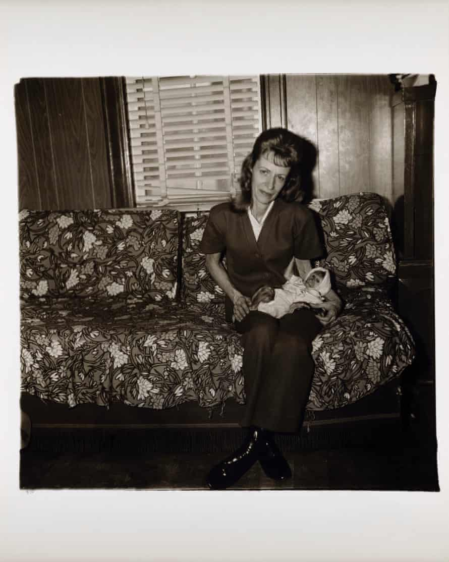 Diane Arbus, A woman with her baby monkey, NJ 1971.
