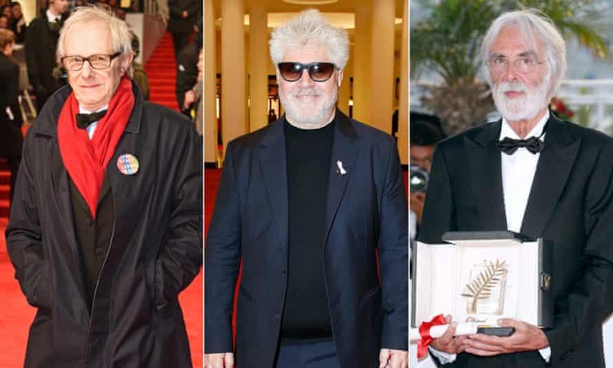 Old boys' club: Ken Loach, Pedro Almodóvar, Michael Haneke