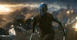 Making a dash for it: Karen Gillan in Avengers: Endgame. (Disney/Marvel Studios via AP)