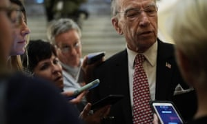Chuck Grassley has asked the DoJ to investigate 'potential conspiracy to provide materially false statements to Congress and obstruct a committee investigation'.