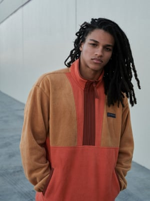 tan and orange fleece, Columbia from Urban Outfitters