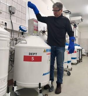 Prof Thomas Hildebrandt at work in his lab.