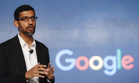 Sundar Pichai, the chief executive of Alphabet and Google, was paid 350 time the median pay of his employees.