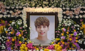Feeling the pressure: a shrine to Kim Jong-hyun, 27, a member of SHINee, who took his own life in 2017.