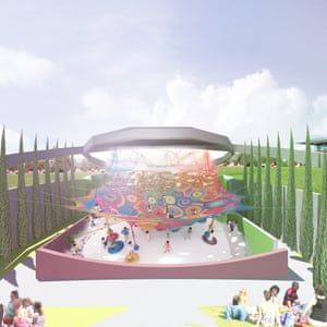'A giant trampoline-y thing' woven by Toshiko Horiuchi MacAdam will be a new feature of the proposed Homo development.