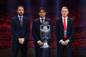 Gareth Southgate, Croatia manager Zlatko Dalic and Czech Republic manager Jaroslav Silhavy.