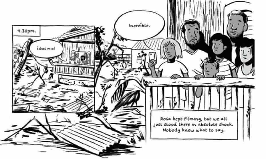 Frame from After Maria, a graphic novella