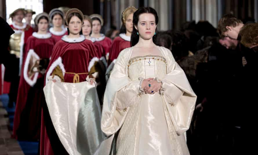 Claire Foy as Anne Boleyn in the television version of Wolf Hall.