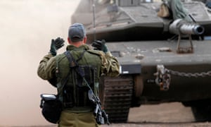 An Israeli soldier during a military drill in the Israeli-occupied Golan Heights.