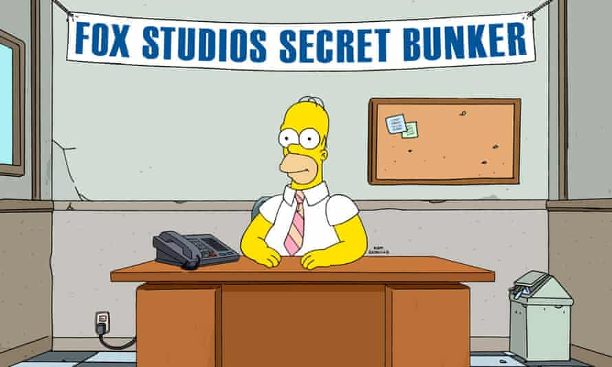 The boundaries between us and our entertainment are getting smaller ... Homer takes calls from viewers.