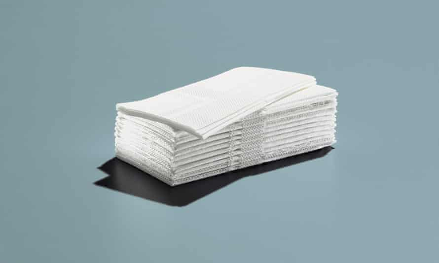 Paper towels: use rags or towels instead.