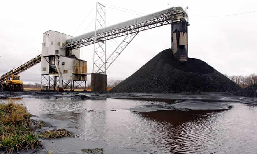 A conveyor belt moves underground mined coal to the surface at Peabody Energy's Gateway near Coulterville