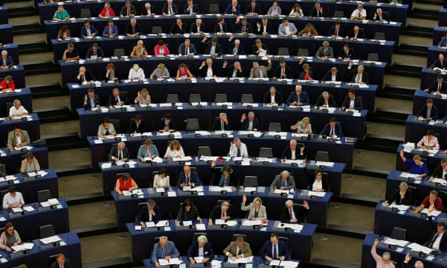 MEPs during a voting session at the European parliament in Strasbourg, France.
