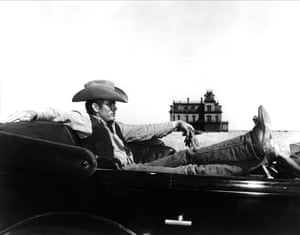 James Dean in Giant.