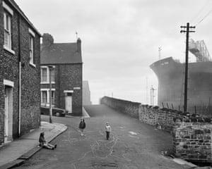 Looking east on Camp Road, Wallsend, 1975.