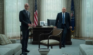 Kevin Spacey (right) as Frank Underwood with White House chief of staff Doug Stamper (Michael Kelly).