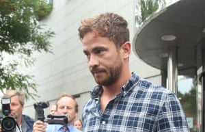 Cipriani leaves Jersey magistrates' court, Saint Helier, where he pleaded guilty to charges of common assault and resisting arrest following an incident in a nightclub on the island.