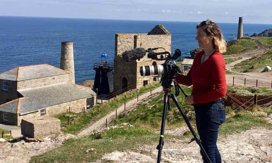 Filmmaker Sky Neal on location in St Just, Cornwall