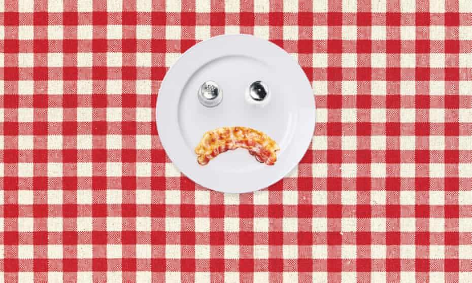long read sad bacon illustration