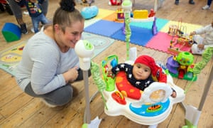 Rachael Aldrin-Quaye and her baby Niyah at the Little Village party in Balham, south-west London. All photographs by Richard Saker for the Observer