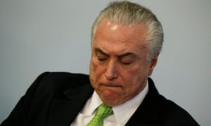Brazil's president, Michel Temer, has approval ratings in the single digits.