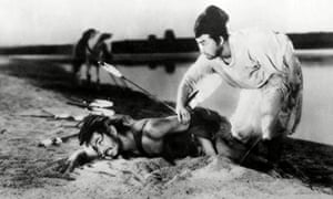 Rashomon, 1950, starring Toshiro Mifune. Shinobu Hashimoto co-wrote it with the film's director Akira Kurosawa. It was based on a 1922 short story, In a Grove.