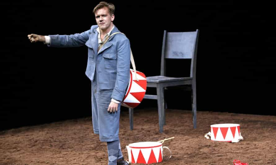 A force of nature in short trousers … Nico Holonics in The Tin Drum, Coronet Theatre, Feb 2020.