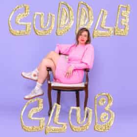 Lou Sanders Cuddle Club Podcast press publicity poster image