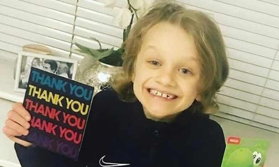 Jordan Banks, 9, who died on Tuesday after being struck by lightning in Blackpool while playing football.