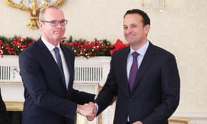 Simon Coveney (left) after being appointed Ireland's deputy prime minister by Leo Varadkar (right), the premier