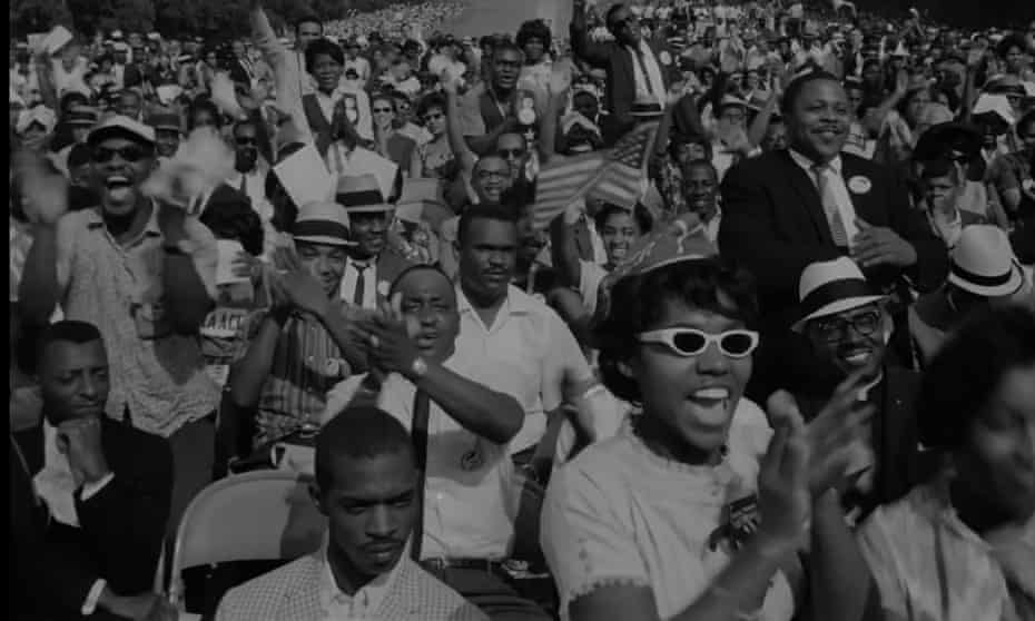 A still from MLK/FBI of the March on Washington
