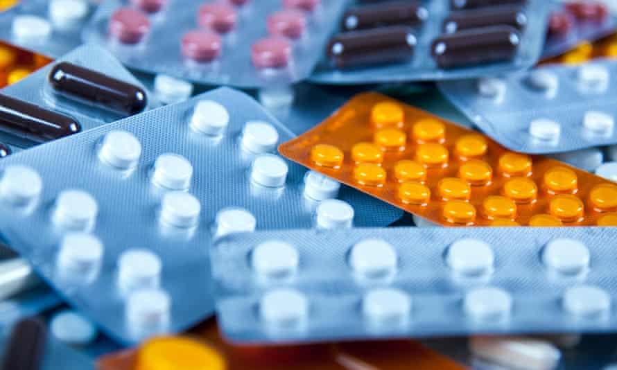 Pile of prescription pills