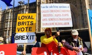 Pro-Brexit protests, London, 5 September 2019.