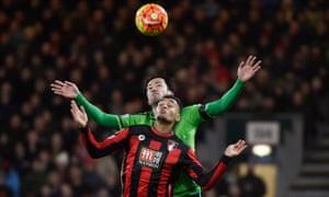 Southampton's Maya Yoshida and Bournemouth's Joshua King