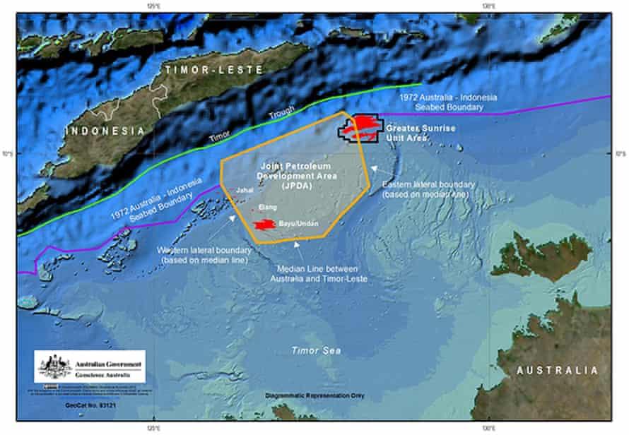 Maritime border map