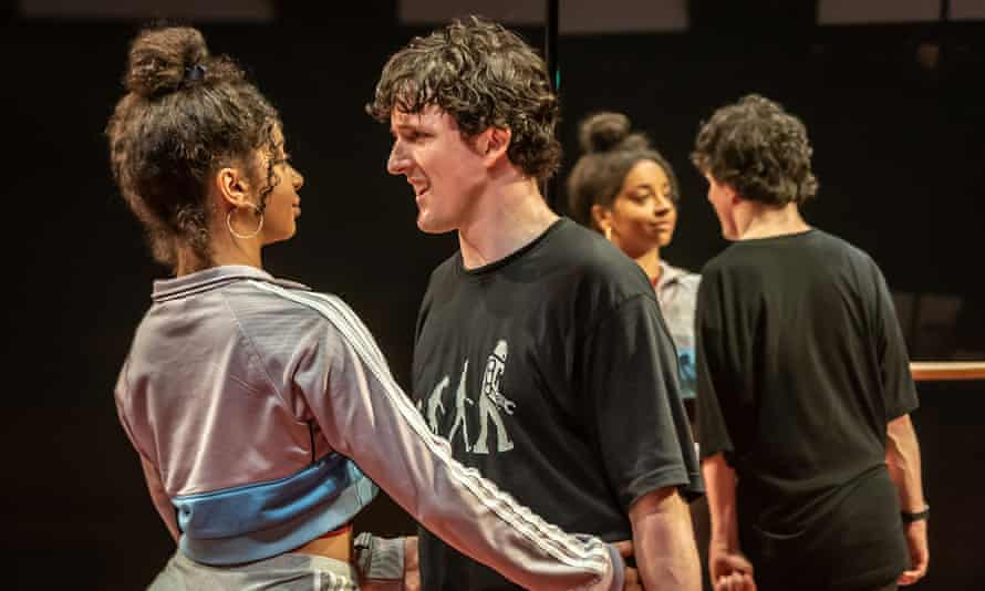 Siena Kelly as Anne Margaret and Daniel Monks as Richard in Teenage Dick at the Donmar Warehouse.