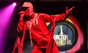 Gazelle Twin performing at the Late Junction festival, March 2019.