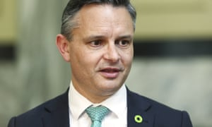 Green party co-leader and climate change minister James Shaw.