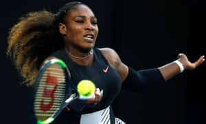 Serena Williams playing at the Australian Open