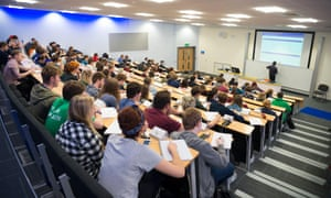 Aberystwyth University students in a lecture.