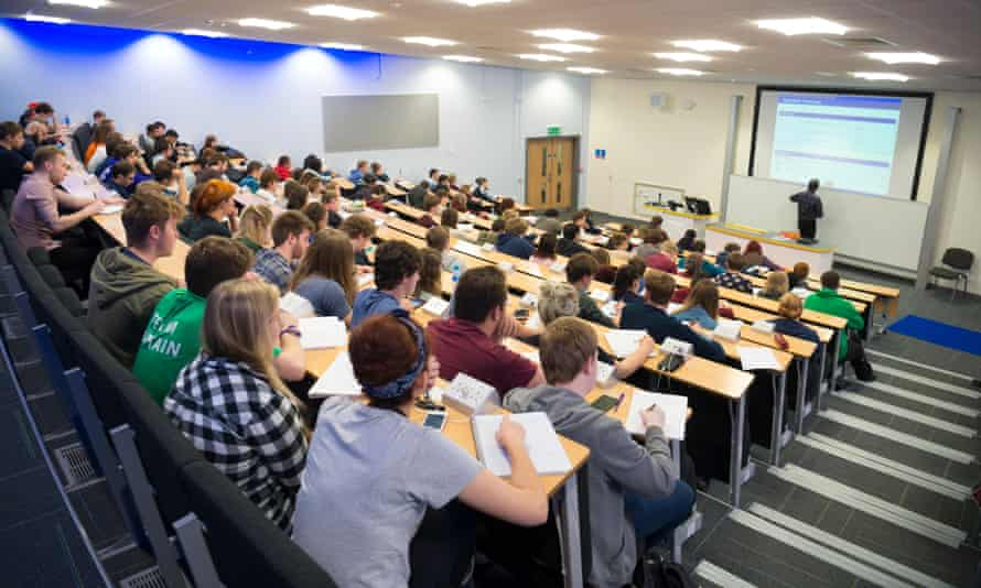 Students paying £9,250 or more for tuition struggled to get a seat at some university lectures.