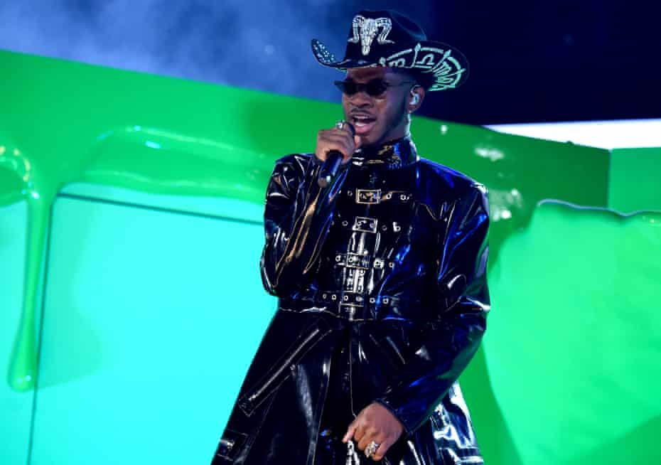 Lil Nas X performs at the Grammys in January.