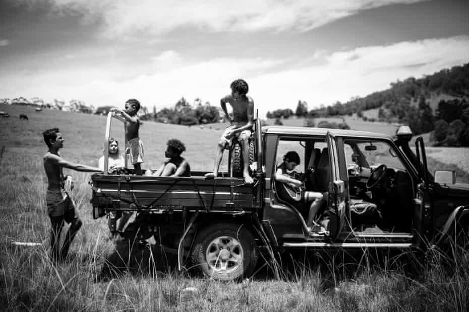 Taking a break from activities. Malachi, Banahm, Sabelo, Shekwaza, Uriah, & Tyron
