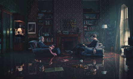 Dr John Watson played by Martin Freeman (left) and Sherlock Holmes played by Benedict Cumberbatch (right) in Sherlock.