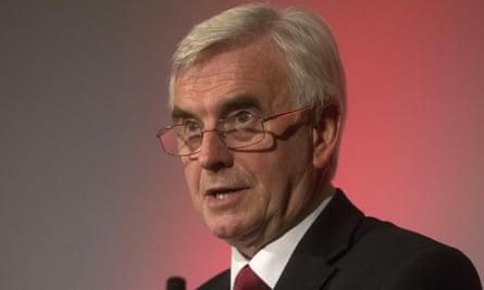 John McDonnell, the shadow chancellor